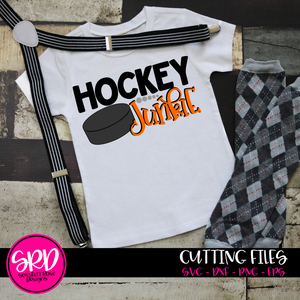 Hockey Junkie SVG - Hockey SVG
