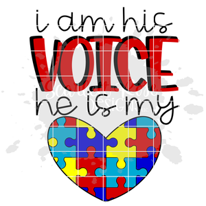 I am his Voice He is my Heart SVG