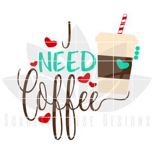 I Need Coffee, I'm A Latte To Handle SVG