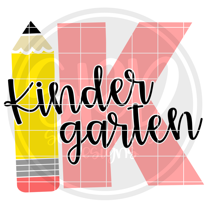 Kindergarten K SVG - Pencil