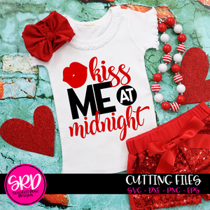 Kiss Me At Midnight - New Year's SVG
