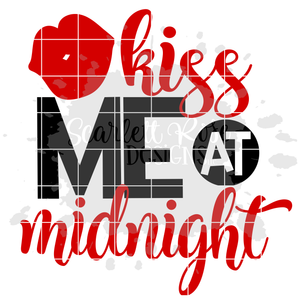 Kiss Me At Midnight SVG