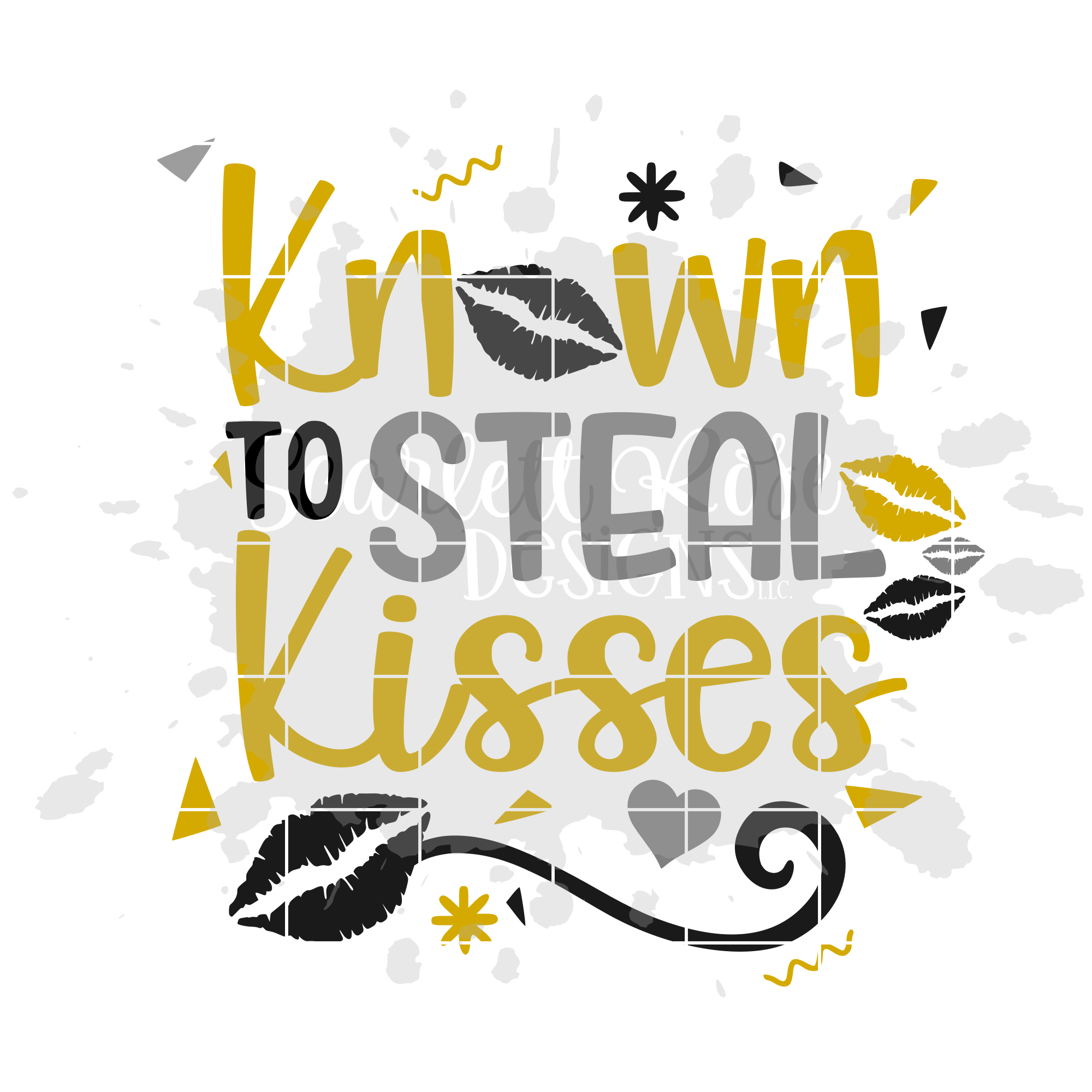 known to steal kisses svg new years svg