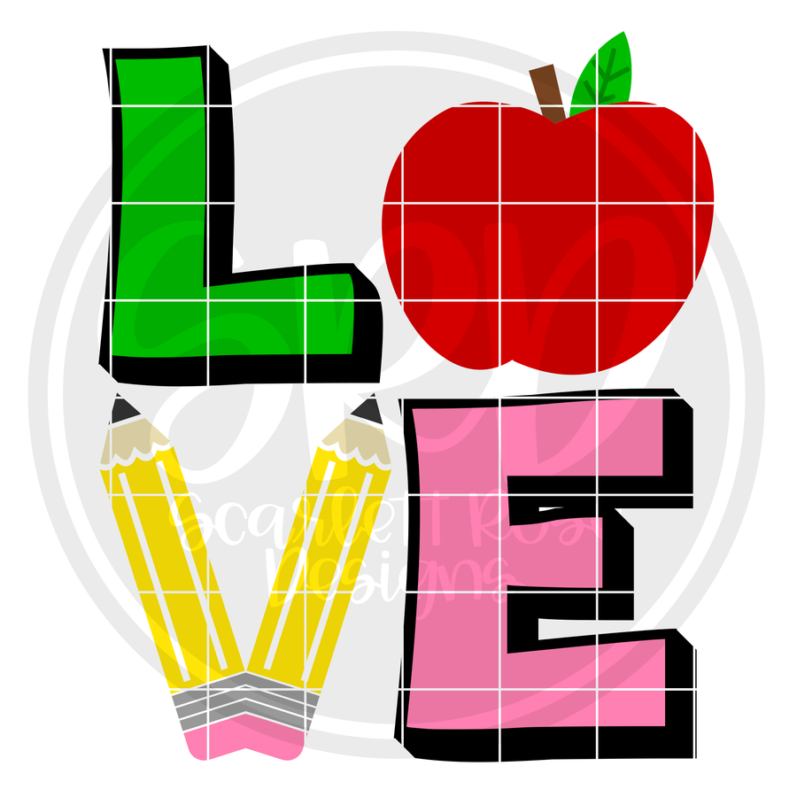 Love - Teacher SVG