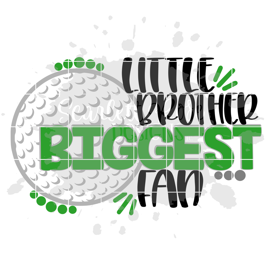 Little Brother Biggest Fan - Golf SVG