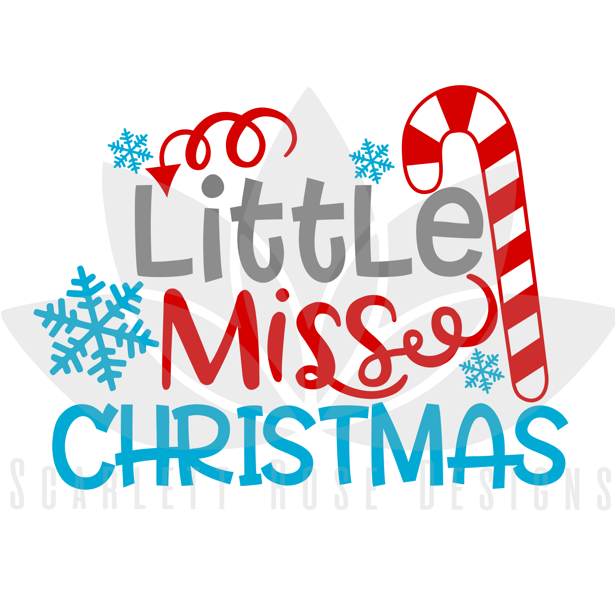 Christmas Svg Little Miss Christmas Candy Cane Scarlett Rose Designs