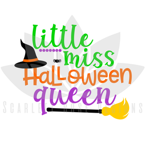 Little Miss Halloween Queen SVG