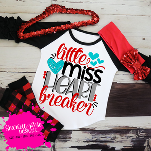 Little Miss Heart Breaker SVG