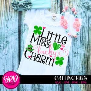 St. Patrick's Day SVG, DXF, Little Miss Lucky Charm cut file