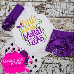 Little Miss Mardi Gras SVG