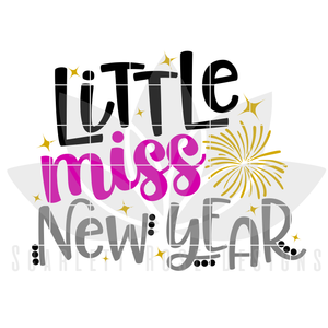 Little Miss New Year SVG