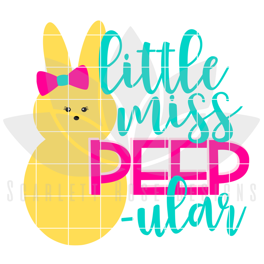 Easter SVG, Little Miss Peep - ular cut file