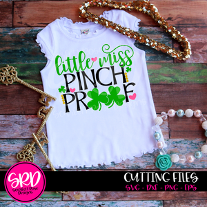 St. Patrick's Day SVG, DXF, Little Miss Pinch Proof cut file