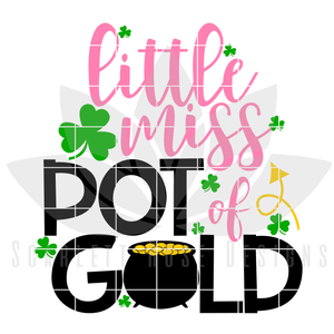 Little Miss Pot of Gold SVG