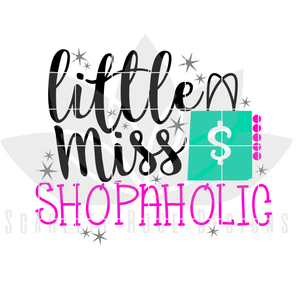 Little Miss Shopaholic SVG