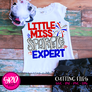 Little Miss Sparkler Expert SVG cut file