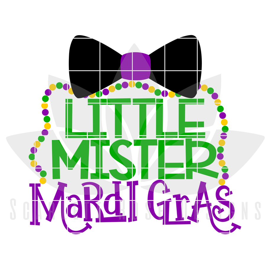 Little Mister Mardi Gras SVG