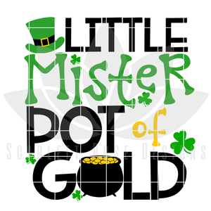 Little Mister Pot of Gold SVG