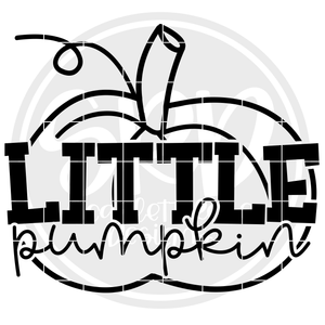 Little Pumpkin - Black SVG
