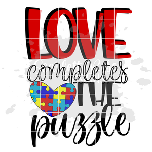 Love Completes the Puzzle SVG