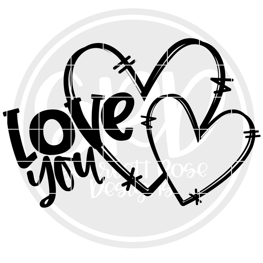 Love You SVG - Black