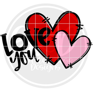 Love You SVG - Color