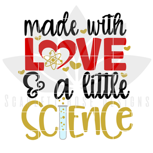 New Baby SVG, DXF, Made with Love and a little Science, Fertility Baby cut file