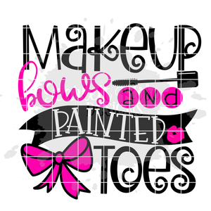Makeup Bows and Painted Toes SVG