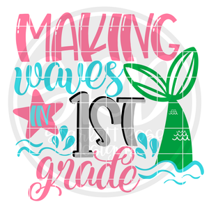 Making Waves in 1st Grade SVG