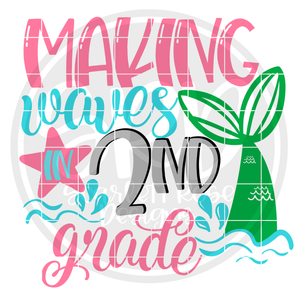 Making Waves in 2nd Grade SVG