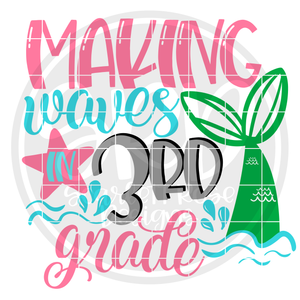 Making Waves in 3rd Grade SVG
