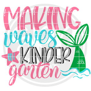 Making Waves in Kindergarten SVG
