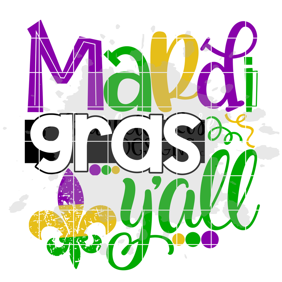Mardi Gras Y'all SVG