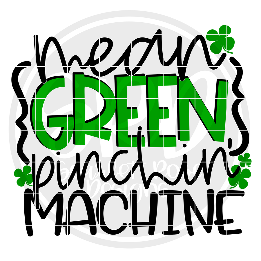 Mean Green Pinchin' Machine SVG