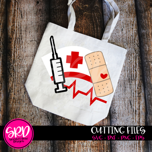 Medical - Band Aid, Shot, Med Hat SVG