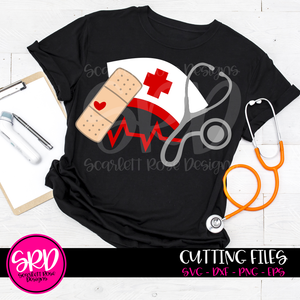 Medical - Band Aid, Stethoscope, Med Hat SVG