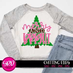 Merry and Bright Tree SVG