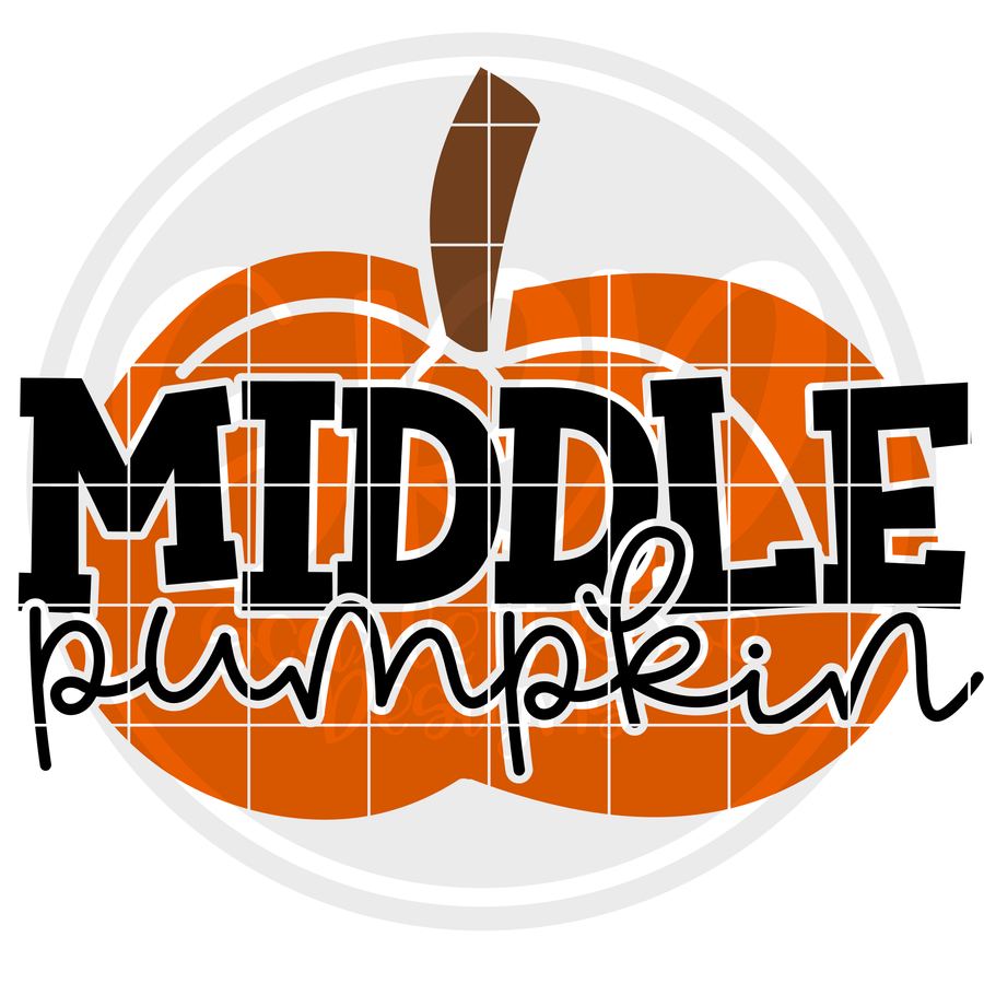 Middle Pumpkin SVG