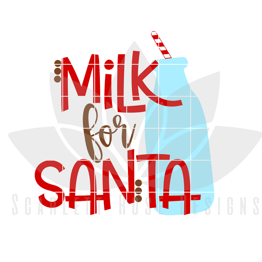 Milk for Santa SVG
