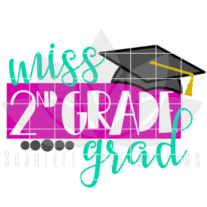 School SVG - Miss 2nd Grade Grad