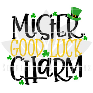 St. Patrick's Day SVG, DXF, Mister Good Luck Charm cut file