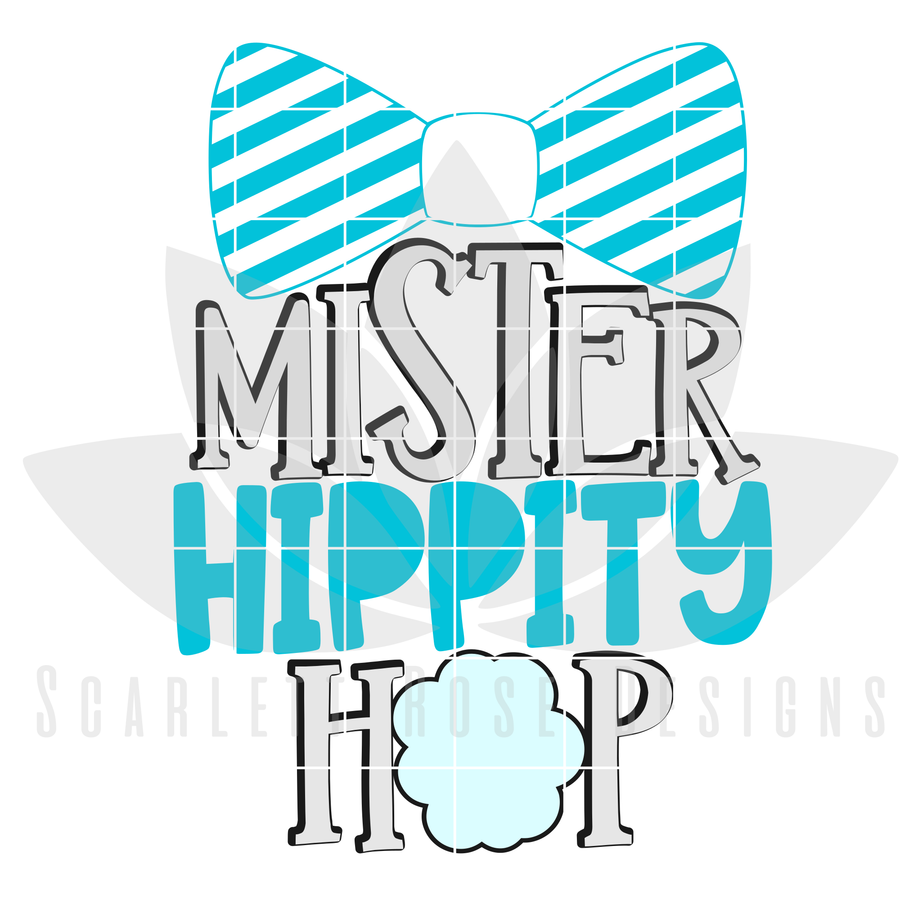 Easter SVG, Mister Hippity Hop cut file