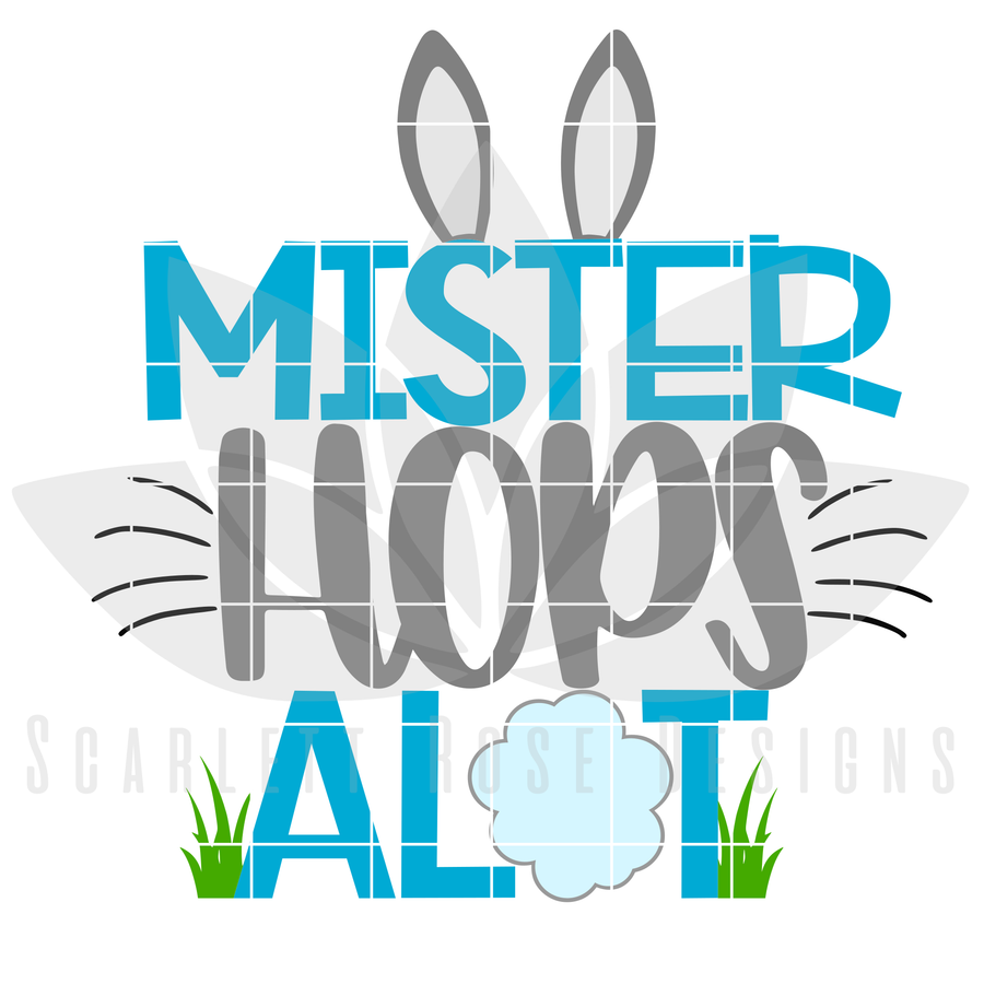 Easter SVG, Mister Hops Alot cut file