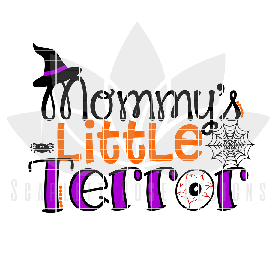 Halloween SVG, Mommy's Little Terror cut file