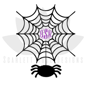 Halloween Monogram Frame SVG cut file, EPS, PNG