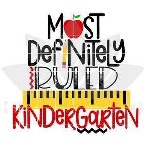 Most Definitely Ruled Kindergarten SVG