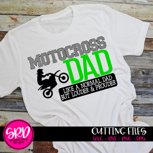 Motocross Dad - Louder & Prouder SVG