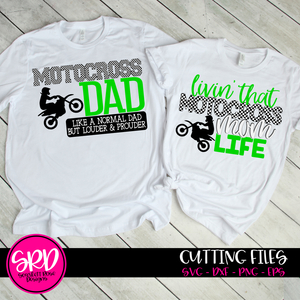 Motocross Dad - Mom SVG SET