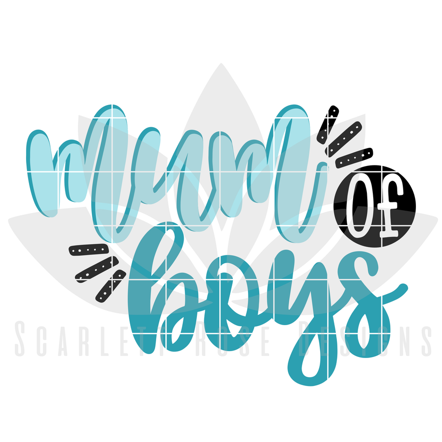 Mum of Boys SVG
