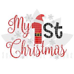 Christmas SVG, My First Christmas, Santa Claus cut file